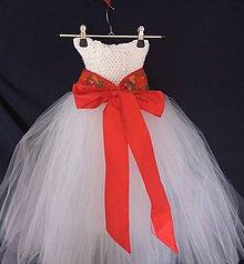 28b43f491710 Detské oblečenie - šaty s folkovým opaskom - 9449465