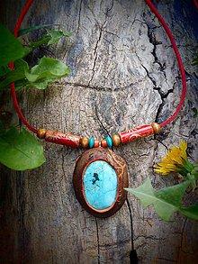 Náhrdelníky - náhrdelník Tyrkys Nevada - 9448194_