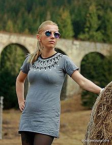 Šaty - Dámske šaty mini, šité, maľované, etno ÁNIË - 9448296_