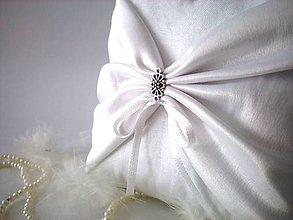 Prstene - Svadobný vankúšik pod obrúčky (Elegant) - 9448328_