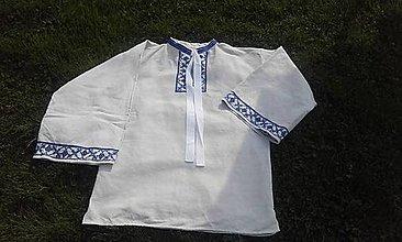 Oblečenie - Pánska ľudová košeľa - 9449380_