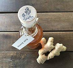 Potraviny - Zázvorový sirup (250 ml) - 9450141_