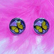 Náušnice - Náušnice motýľ - 9449785_