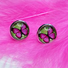 Náušnice - Náušnice motýľ - 9449846_