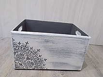 Krabičky - Drevená debnička s ornamentom - 9450315_