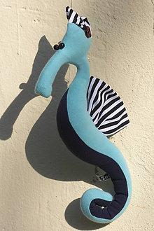 29c9b00b4d Hračky - Hippik - modrý morský koník z bavlny - 9448507
