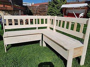 Nábytok - Drevená rohová lavica 140 x150 - 9448416_