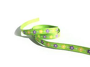 Galantéria - Rypsová stuha 10 mm - Kvetiny - 9449672_