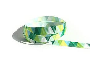 Galantéria - Rypsová stuha 10 mm - Trojuholníky - 9449681_