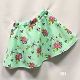 - Zelená polkruhová suknička - 9450997_