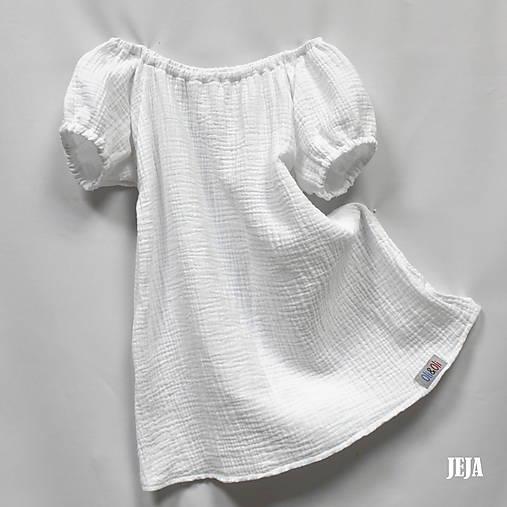 e30700a753cb Biele letné šaty z dvojitej gázoviny   babikajeja - SAShE.sk ...