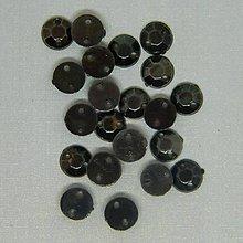 Iný materiál - Našívacie kamienky kruhové 6mm (kovová farba) - 9451142_