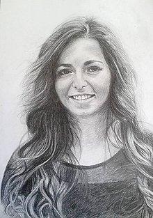 Kresby - dievča s rozpustenými vlasmi... :-)-A2 - 9450410_