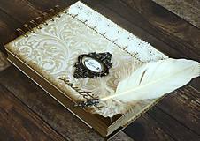 Papiernictvo - Čipka elegantná kniha hostí,fotoalbum,kronika/jediný kus - 9449666_