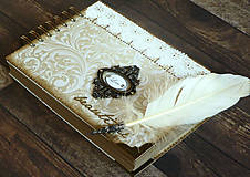 Čipka elegantná kniha hostí,fotoalbum,kronika/jediný kus
