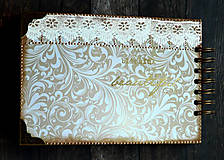 Papiernictvo - Čipka elegantná kniha hostí,fotoalbum,kronika/jediný kus - 9449687_