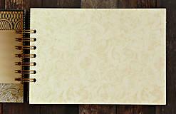 Papiernictvo - Čipka elegantná kniha hostí,fotoalbum,kronika/jediný kus - 9449710_