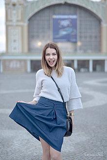 Sukne - Denimová sukňa tmavá s protizáhybom - 9449862_