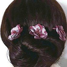 Ozdoby do vlasov - Ružičky do vlasov - 9450356_