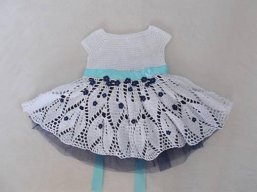 cd391f5d0ea0 Slávnostné dievčenské háčkované šaty na svadbu (62 68)   mika ...