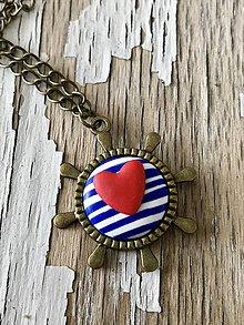 Náhrdelníky - námornícky náhrdelník-2 varianty (kormidlo I.) - 9449935_