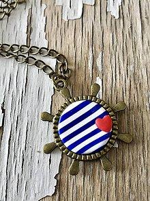 Náhrdelníky - námornícky náhrdelník-2 varianty (kormidlo II.) - 9449943_