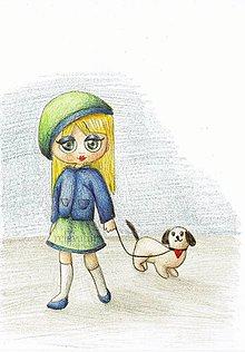 Kresby - Venčenie psa - kresba - 9450030_