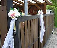 Dekorácie - svadobná výzdoba na plot - 9449400_
