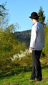 Košele - Folklórna pánska košeľa - 9453020_