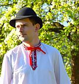 Košele - Folklórna pánska košeľa - 9453042_