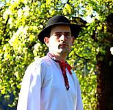 Košele - Folklórna pánska košeľa - 9453043_