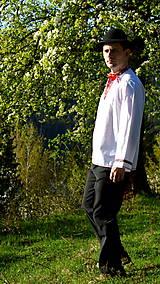 Košele - Folklórna pánska košeľa - 9453045_