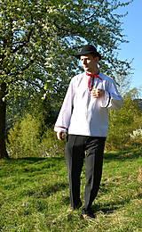 Košele - Folklórna pánska košeľa - 9453047_
