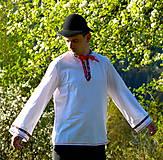 Košele - Folklórna pánska košeľa - 9453048_