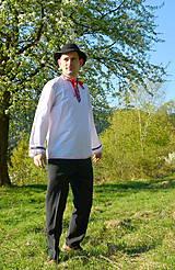 Košele - Folklórna pánska košeľa - 9453050_