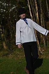 Košele - Folklórna pánska košeľa - 9453106_
