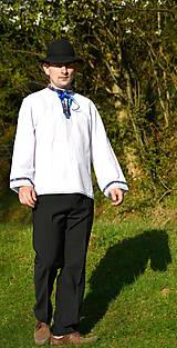 Košele - Folklórna pánska košeľa - 9453107_