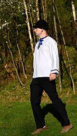 Košele - Folklórna pánska košeľa - 9453110_