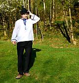 Košele - Folklórna pánska košeľa - 9453111_