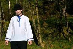 Košele - Folklórna pánska košeľa - 9453112_