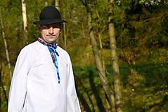 Košele - Folklórna pánska košeľa - 9453114_