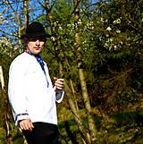 Košele - Folklórna pánska košeľa - 9453116_