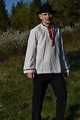 Košele - Folklórna pánska košeľa - 9453293_