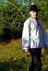 Košele - Folklórna pánska košeľa - 9453304_