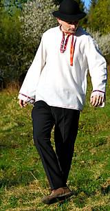 Košele - Folklórna pánska košeľa - 9453308_