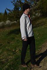 Košele - Folklórna pánska košeľa - 9453312_