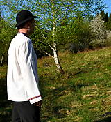 Košele - Folklórna pánska košeľa - 9453314_