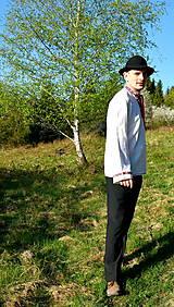 Košele - Folklórna pánska košeľa - 9453320_