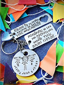 Kľúčenky - MIX 3 plieškov podľa Tvojho výberu :) - 9453436_