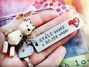 Kľúčenky - STÁLE BUDEŠ V MOJOM SRDCI - 9453445_